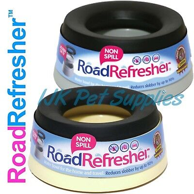 Road Refresher Dog Puppy Pet Non Spill Travel Water Small Large Bowl - Prestige