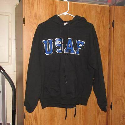 AIR FORCE ARCHED CHARCOAL CREW NECK Sweatshirt U.S Pullover USAF USA Airforce