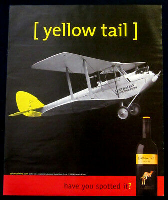Yellow Tail Wine large print ad 2006 Airplane, Australian Bush Doctors