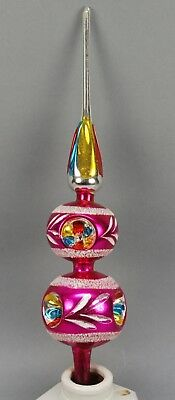 Antique Indent Colorful Sugared Design Tree Topper!