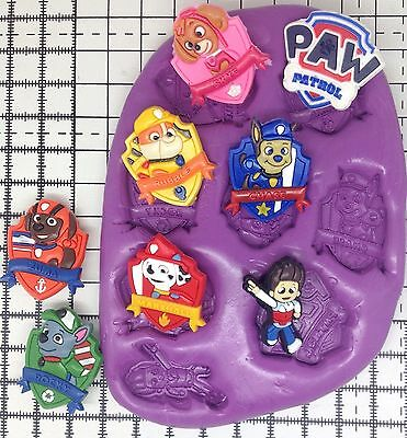Paw Patrol Silicone Mould/mold Disney Cupcake Topper.