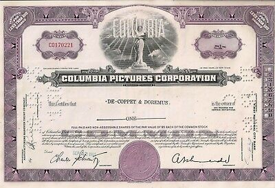 Columbia Pictures Corporation, New York, 1965  (1 Share)