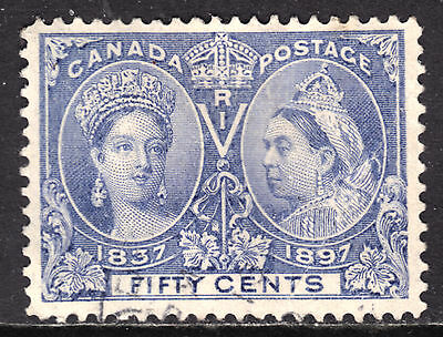 CANADA #60 50c ULTRA, 1897 QV DIAMOND JUBILEE, VF, CDS