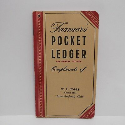 John Deere 1947 1948 Farmers Pocket Ledger