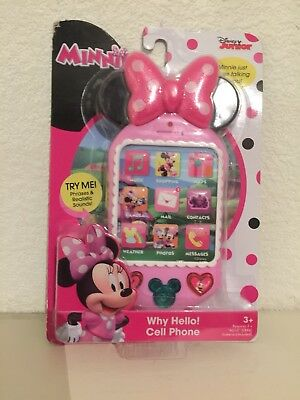 BNIB - Minnie Mouse Why Hello Cell Phone Children's Mobile Phone Pretend Play