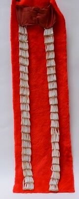 "Classic Northern Plains Dentalium Shell Earrings - Exceptionally Long 28"" 19th C"