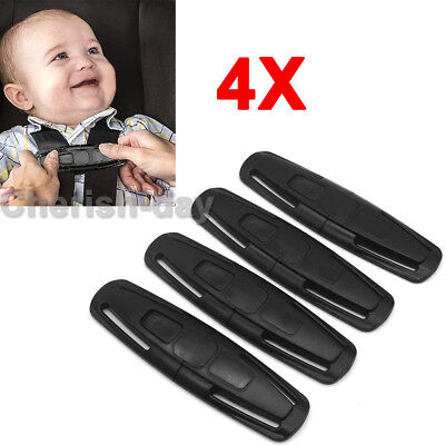 4PCS Car Baby Safety Seat Strap Belt Harness Safe Lock Chest Clip Child Buckles