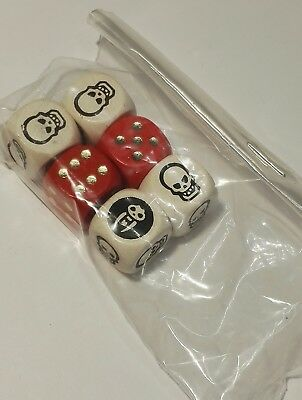 DICE x 6 (Full Set) - HEROQUEST (Combat Dice + 6 Sided) - MB Games Workshop new