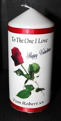 Creative Red Rose Valentine candle present for her #4