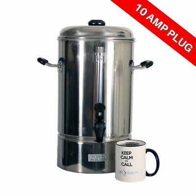 Oz Chef Hot Water Urn 10L Stainless Steel