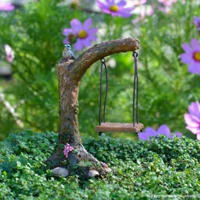 Curved Swing Fairy cottage Home Garden Craft Décor