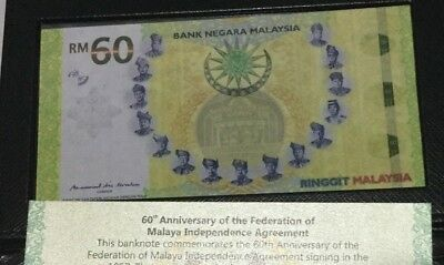 60th Anni.of the Signing of the Federation of Malaya - Banknote MYR60 OFFER