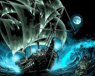 Paint by Numbers Kit 40x50cm with FRAME - The Black Pearl