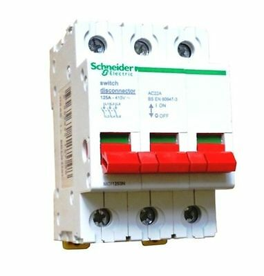 Schneider 125a 3p  Main Switch Disconnector MG11253 ! B.N.I.B !