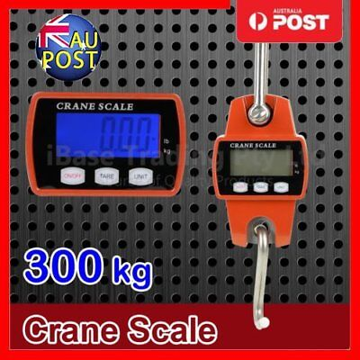Mini Portable Crane Scale 300kg 0.1kg LCD Digital Electronic Hook Hanging Scale,
