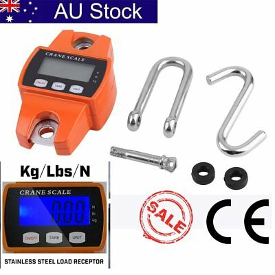 Mini Portable Crane Scale 300kg 0.1kg LCD Digital Electronic Hook Hanging AU FDF
