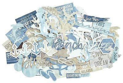 ~ BEACH SHACK ~ COLLECTABLES 55+ Die Cut Shapes Scrapbook Card Making