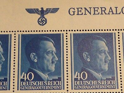Ww2 Genuine 50 Nazi Adolf Hitler Stamps In A Full  Sheet!! Super Rare As A Sheet