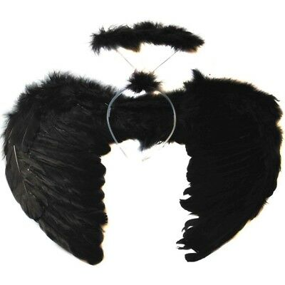 Fashion Kids Adult Halloween Angel Feather Wings Fairy Fancy Dress Party Costume