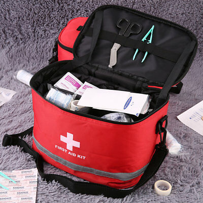 Sports Camping Home Medical Emergency Survival First Aid Kit Bag Outdoors S2