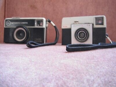 2 Kodak Instamatic Cameras  Made in England