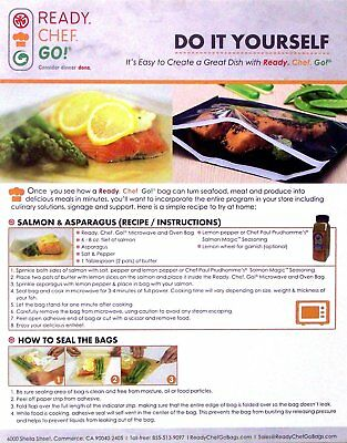 Ready, Chef, Go! Seal and Cook Glassine Cooking Bags Pkg of 10 BPA Free