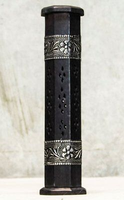 Wicca Ritual Floral Inlay Incense Tower Holder Gothic Goth Boho Witch