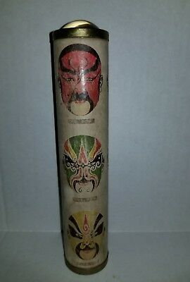 """Vintage and old 7"""" Traditional Chinese warrior mask Kaleidoscope hard to find"""