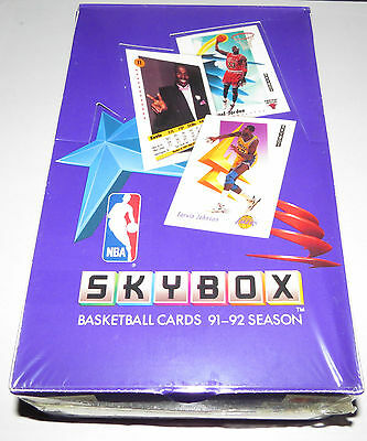 1991/92 Skybox NBA Basketball 36 Pack Series 1 Hobby Box Brand New & Sealed