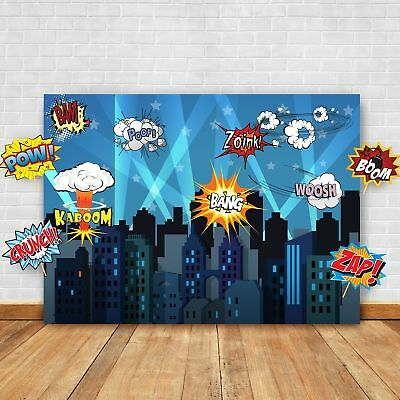 Superhero Cityscape Photography Backdrop and Studio Props DIY Kit. Great as