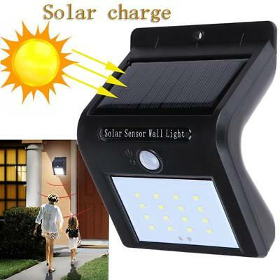Waterproof IP65 Outdoor Solar Power Motion Sensor 16 LED Light Wall Lamp Fence