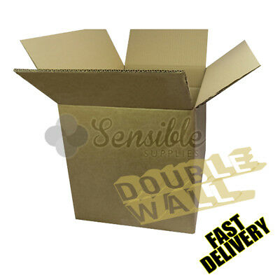 """1 x LARGE DOUBLE WALL STRONG REMOVAL CARDBOARD MOVING BOXES - 24X18X18"""""""