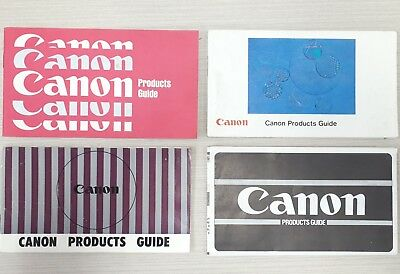 Old vintage CANNON CAMERA Product Guide Book– Film, Photographs, Projector, Lens