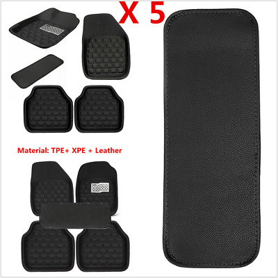 Universal 5Pcs Car Floor Mats Floorliner Front & Rear Carpet Mat For All Weather