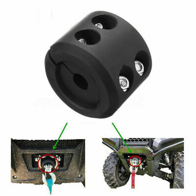 Set ATV UTV Winch Split Cable Hook Mount Stop Stopper Rubber Cushion Black
