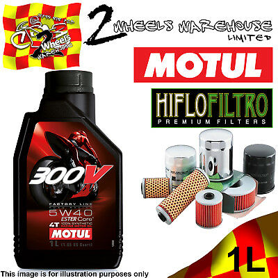 1L Motul 300V 5W40 Oil And Hiflo Hf128 Filter Fits Kawasaki Quad Sxs Atv Listed
