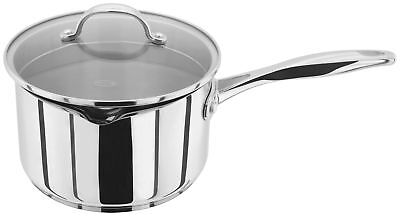 Stellar 7000 Saucepan Stainless Steel Induction Glass Draining Lid 14/16/18/20cm