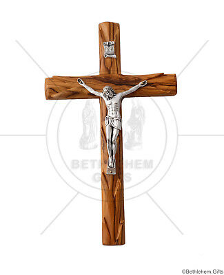 Olive Wood Catholic Crucifix Wall Standing wooden Cross Jerusalem Holy Land