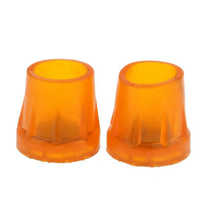 2pcs Rubber Replacement Tips For Walking Sticks Canes & Crutches End 25-36mm