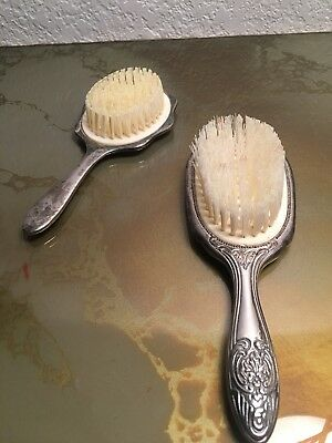 Antique Silver Hair Brush  2 Sets