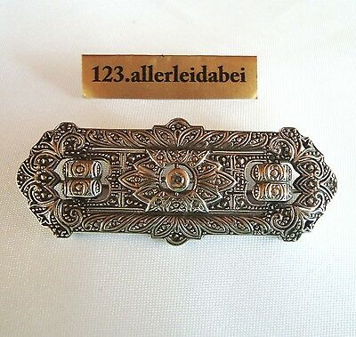 Art Deco Diamant Brosche 935 er Silber um 1925 old diamond brooch /AG 496