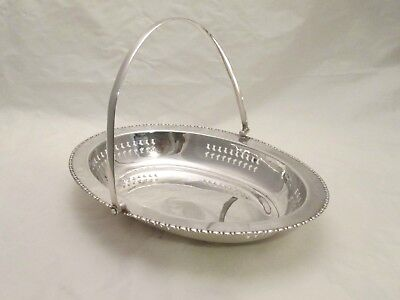 A Good Vintage Silver Plated Basket / Dish - Pierced Detail