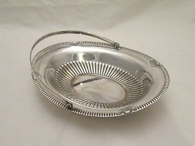 A Good Vintage Silver Plated Basket / Dish - Shell Detail