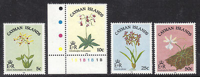 Cayman Islands #535-538, 1985 Set/4, Vf, Mint Nh