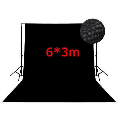 6M*3M Studio Photography Black Muslin Cotton Background Backdrop Sheet 10 X 20Ft