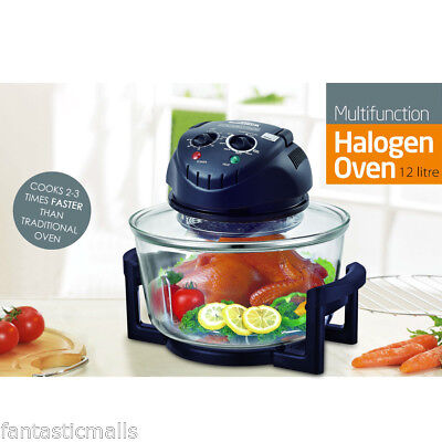 1300W 12 Quart Infrared Halogen Convection Tech Digital Oven with Extender Ring