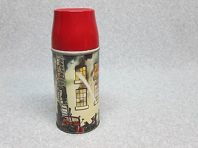 Best-On-ebay 1959 FIREHOUSE FIREFIGHTER Dome THERMOS  Unused MiNt C#10