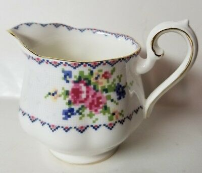 "Royal Albert Bone China England ""Petit Point"" Creamer - Excellent"
