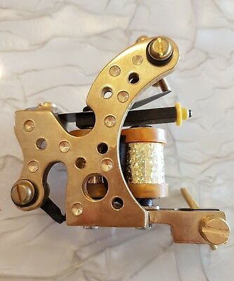 Brass tattoo machine(Shader) - Gold Holo Coils