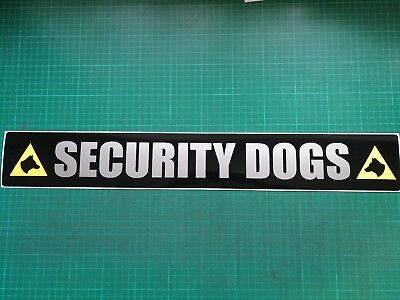SECURITY DOGS  Magnet K9 Unit DOG SECURITY SIA PATROL sticker 620mm x1